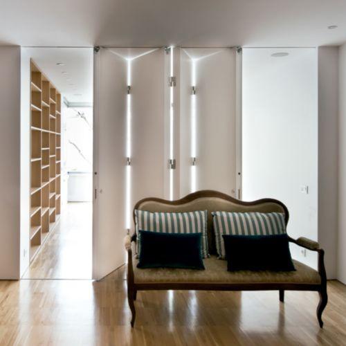 LITE FOLD - Guías y herrajes para puertas correderas plegables de 2, 3 ,4 o 5 hojas