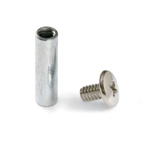 Tornillo unión y tubos sin cabeza W-1/4