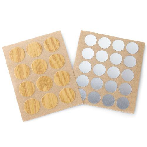 Tapón de plástico Adhesivo de 13 mm y 20 mm. Para tapar agujeros