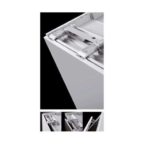 SLIDER S20 - Sistema corredera ocultas MUEBLE ALTO para armarios de 2 puertas hasta 20 kg.
