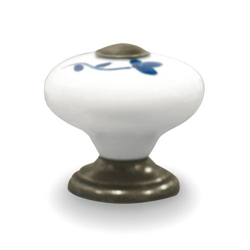 Pomo de porcelana redondo pintado a mano JENA