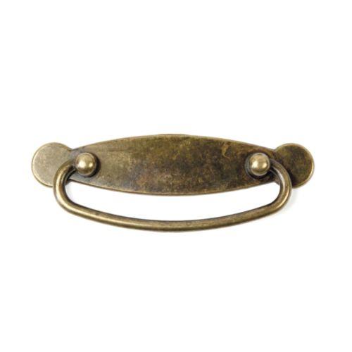 Tirador con placa horizonal rústica con anilla SOFIA