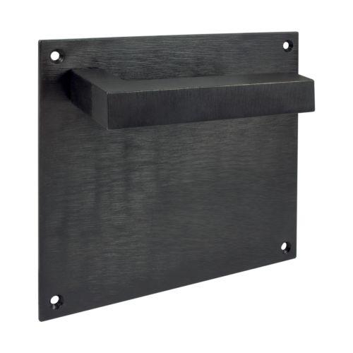 Maneta de placa cuadrada IRONTECH - Negro Industrial