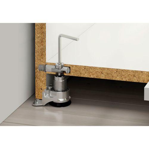 Nivelador Integrato para bases de mueble con regulación