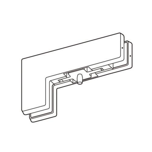 Pivote superior costado vidrio-vidrio para cierrapuertas y puertas de cristal