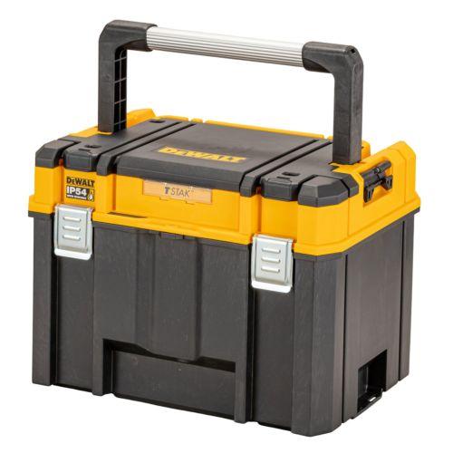 Dewalt DWST83343-1 - Caja herramientas profunda con asa larga de aluminio IP54 TStack