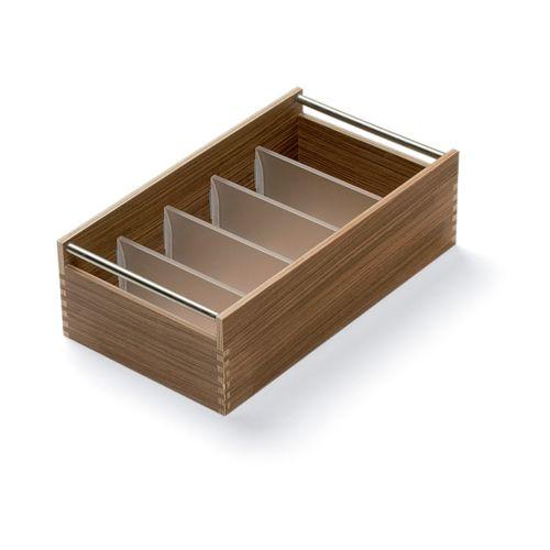 TANIA - Cubertero de madera con divisores de metracrilato