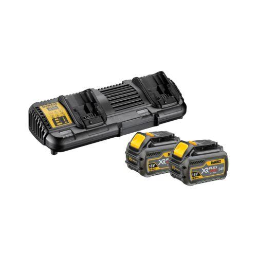 Kit 2 baterias 54V + cargador doble FLEXVOLT