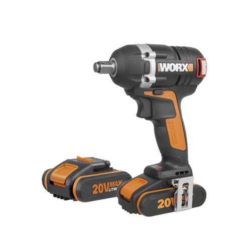 WORX WX279 - Llave impacto Brushless (sin escobillas) con 2 baterías (20V/2Ah)