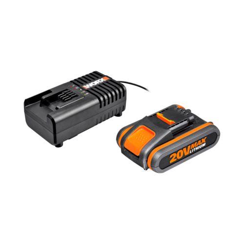 Packs de Cargador y bateria worx 20V 2 y 4 Ah