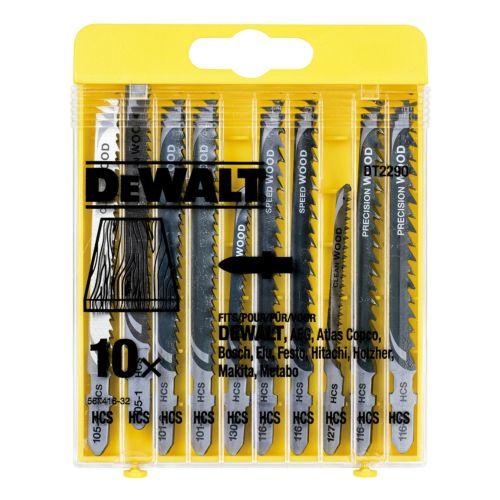 Juego DEWALT DT2290 de 10 hojas de sierra de calar para madera