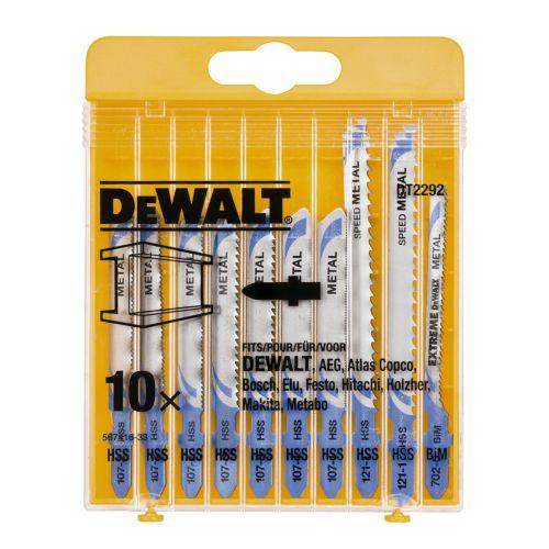Juego DEWALT DT2292 de 10 hojas de sierra de calar para metal