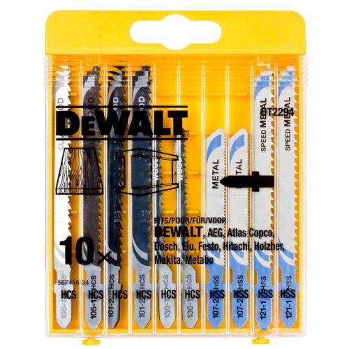 Juego DEWALT DT2294 de 10 hojas de sierra de calar - 5 para metal + 5 para madera