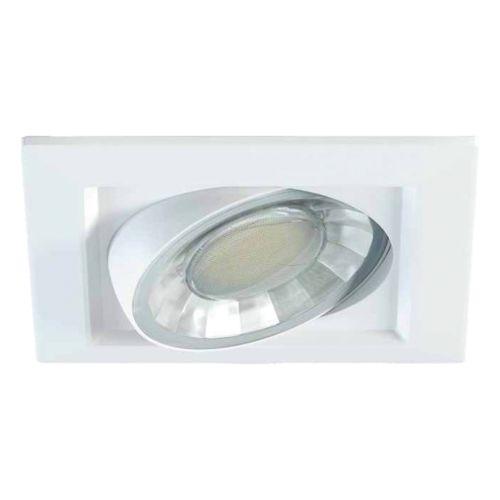 MIRIAM - Aro Cuadrado para Empotrar Basculante y Orientable con lámpara LED