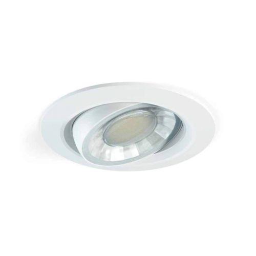 MIREYA - Aro Empotrar Basculante y orientable redondo con lámpara LED