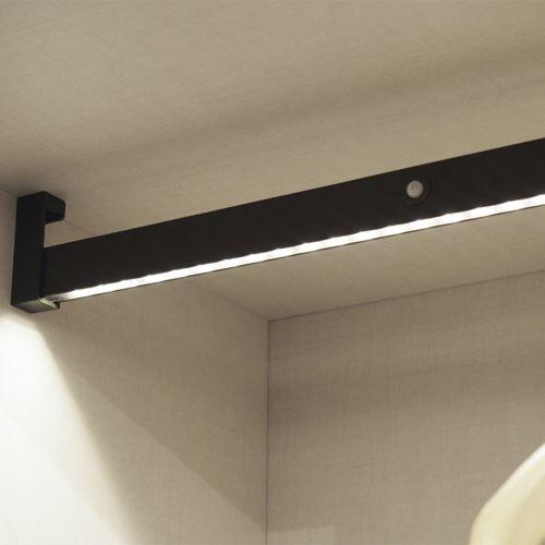 LYTHOS - Barra de armario con iluminación led y batería recargable
