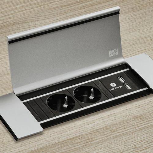 POWER FRAME COVER - Módulo encastrable de enchufes y cargador USB con tapas