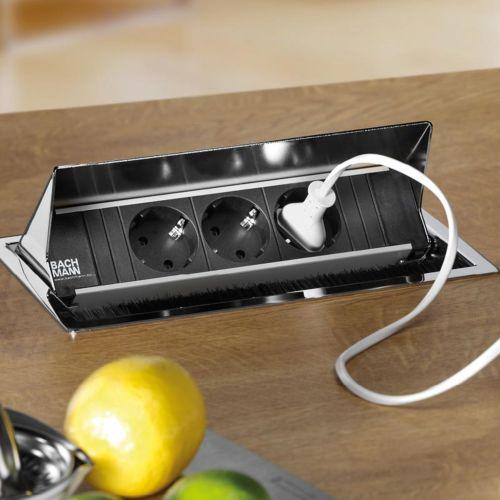 CONI - Módulo abatible con tomas de enchufe y cargador USB