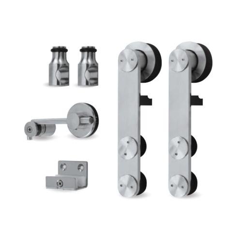 Kit herrajes para montaje puertas correderas Tubo de acero