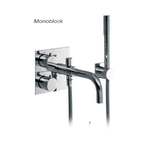 Baño A Monoblock y monomando pared