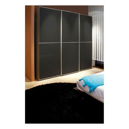 Pefiles CLASS verticales para puertas revestidas de aluminio de madera 10 mm o cristal 4 mm.