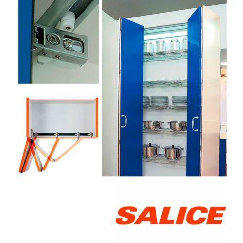 Sistema para puertas correderas libro plegables de perfil de aluminio