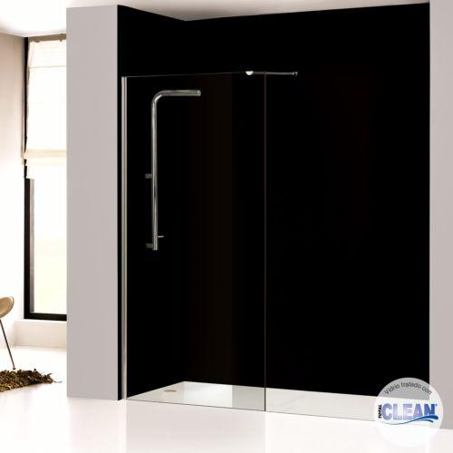 Mampara de baño fija transparente con totalCLEAN«