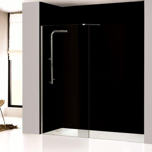 Mampara de baño fija transparente
