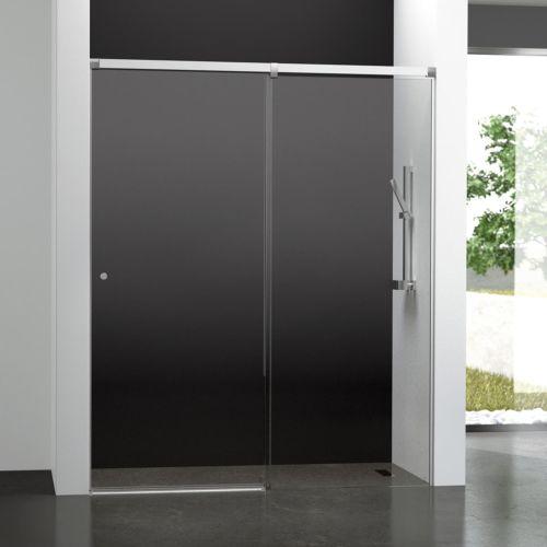 Mampara de baño Kala 2C con cristal transparente (1 puerta corredera y 1 fijo)
