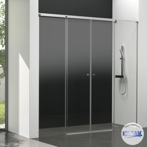 Mampara de baño Kala 4C con cristal transparente y con totalCLEAN« (2 puertas correderas y 2 fijos)