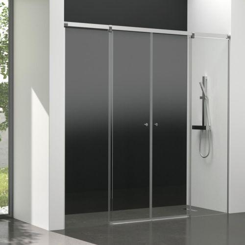 Mampara de baño Kala 4C con cristal transparente (2 puertas correderas y 2 fijos)