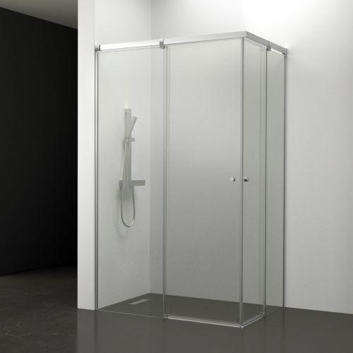 Mampara de baño Kala Angular Transparente (2 puertas correderas y 2 fijos)