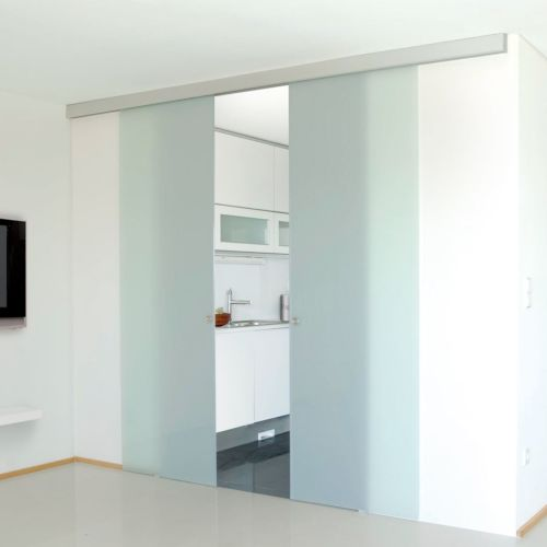KIT UNIKMATIC SINCRONIZADA - Sistema apertura simultánea de 2 hojas para puertas de cristal Klein