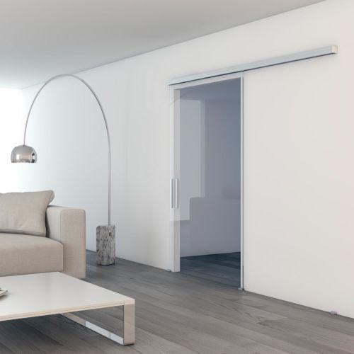 Serie UNIKGLASS + 50/100/150 de Klein para 1 hoja móvil vista a pared hasta 150 Kg.