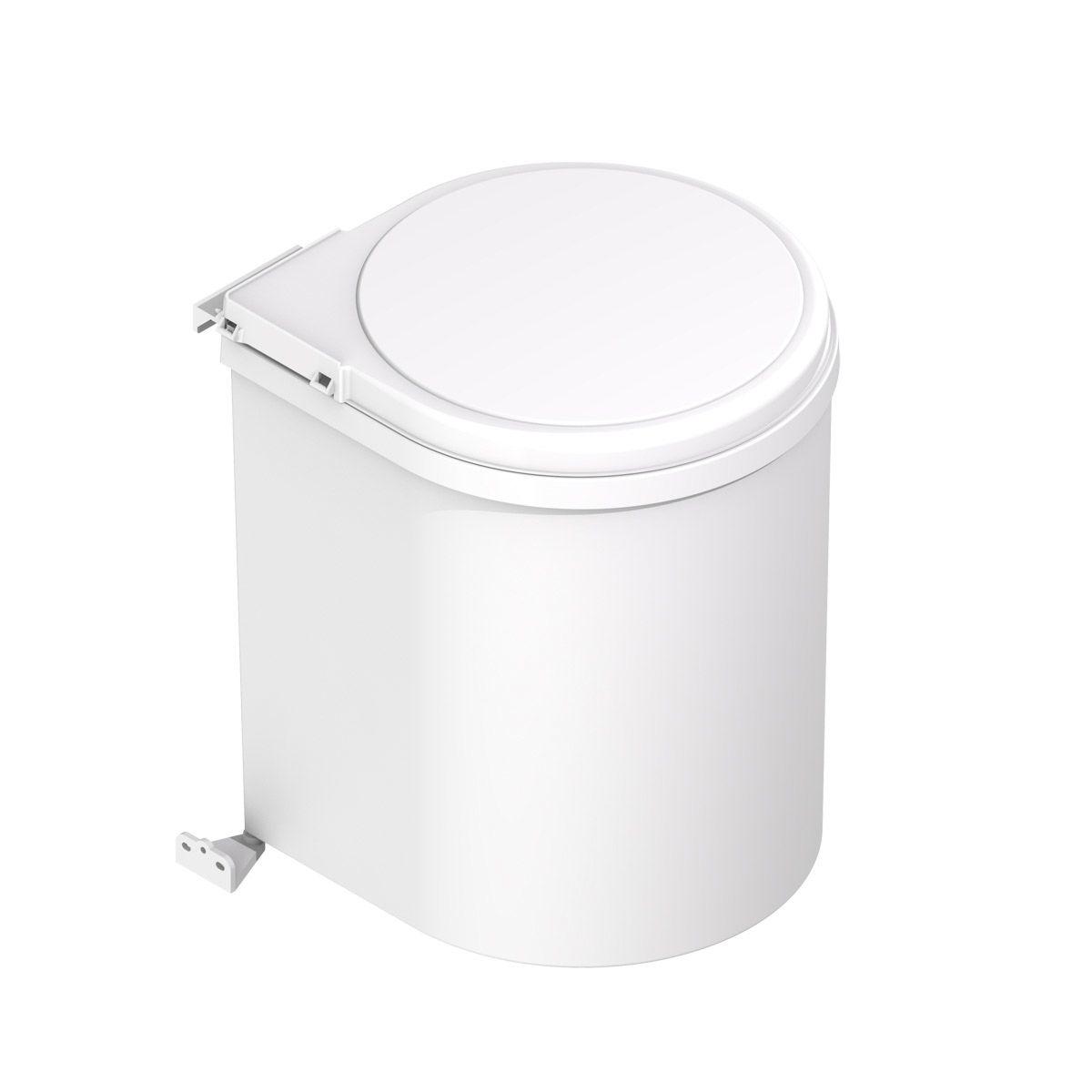 Cubo de basura redondo de 1 compartimento pivotante