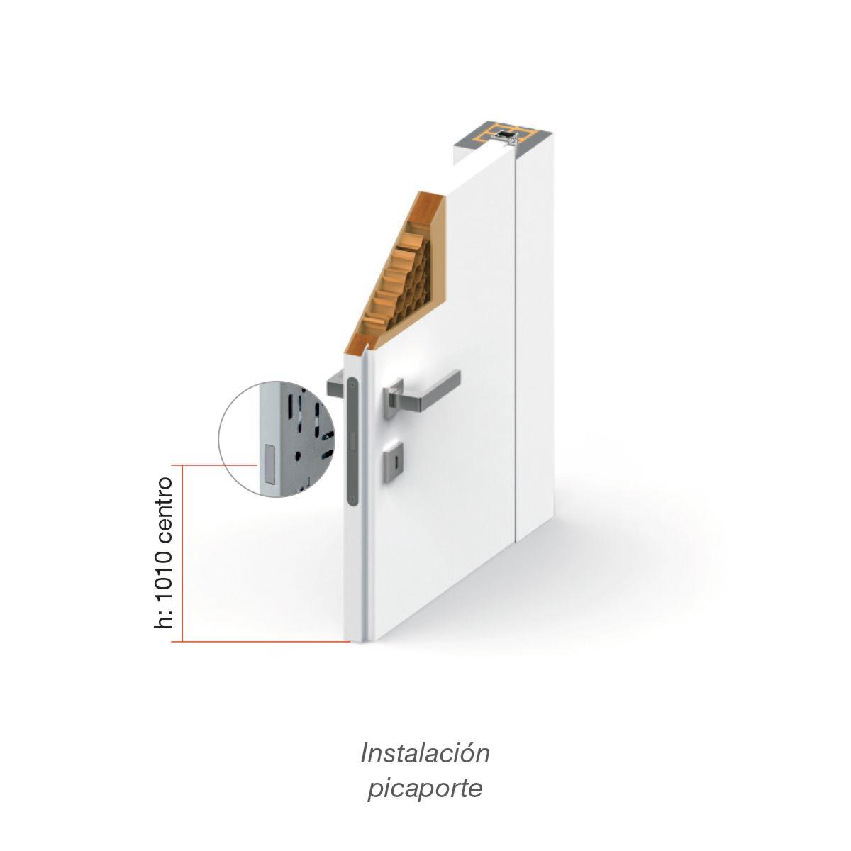 Packed Block Marco oculto y puerta abatible enrasada de apertura reversible