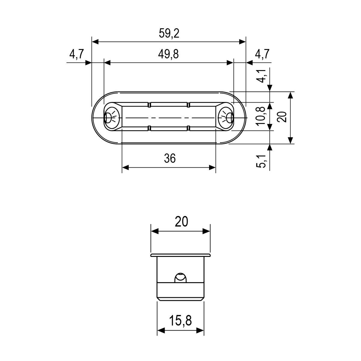 REVOLUTION XT - Picaporte magnético completo de muletilla