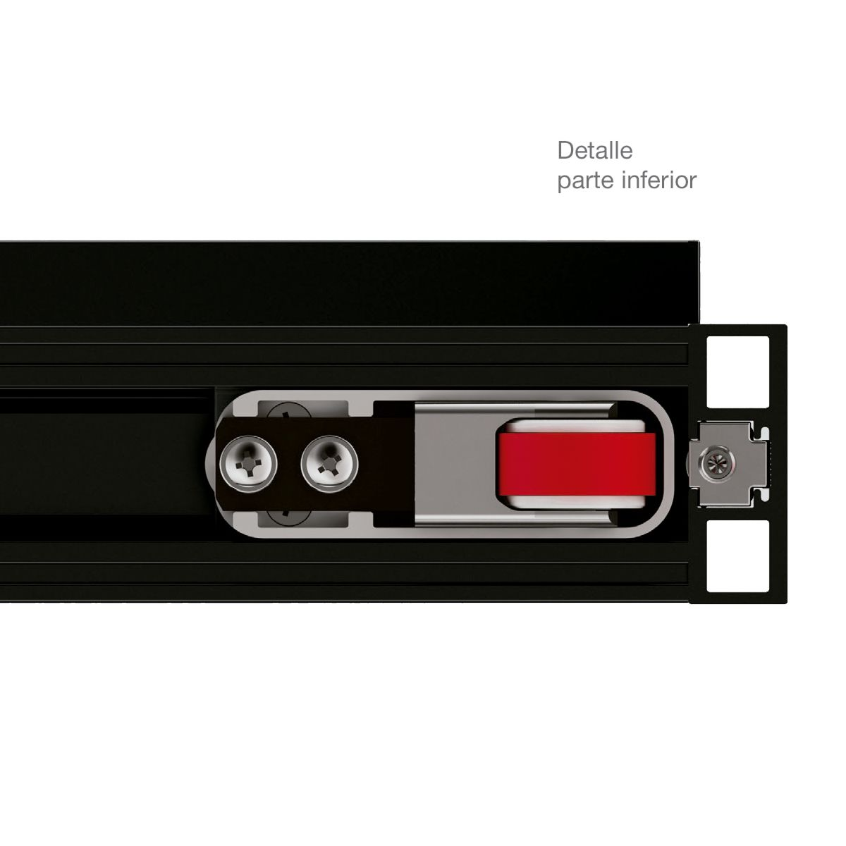 MAGIC-2 FRAME Guía invisible más perfiles para puerta corredera de vidrio