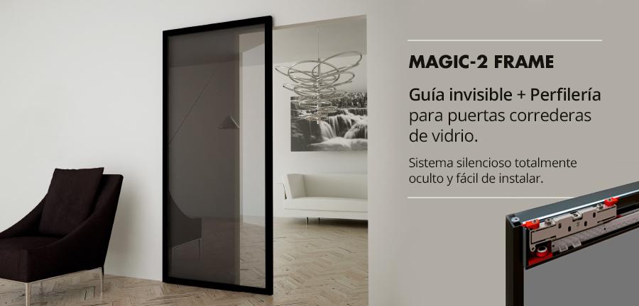 Guía invisible para puertas correderas Magic Frame 2
