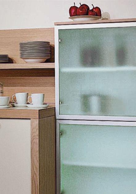 Perfil Aluminio para puertas de vitrina