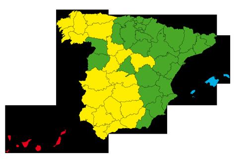 Mapa de envíos a toda España