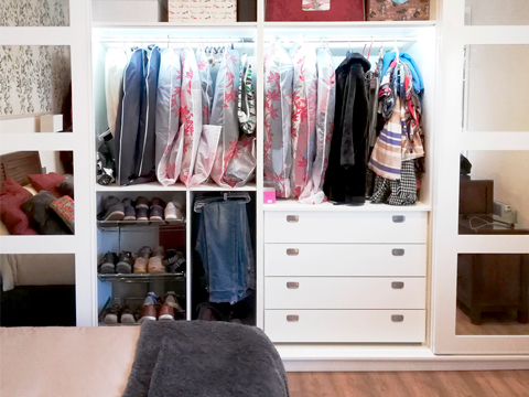 Interiores de armario en orden