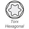 torx-hexagonal